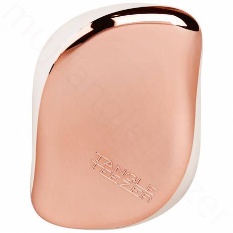 Růžovo-zlatý kompaktní kartáč