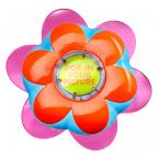 Nový modrý kartáč ve fialovém květináčku